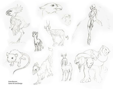 Sketch set one by skyledragon