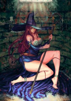 sorceress from dragon's crown by edenfox
