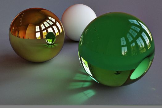 Three Spheres by NickSpiker