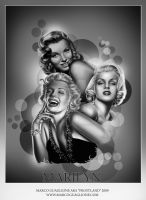 Marilyn Tribute Close Up by MarcoGuaglione