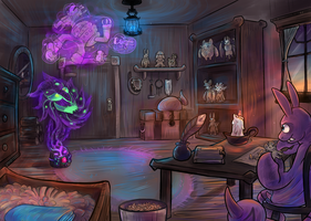 Commission: Team Memento's Room by Srarlight