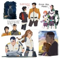 Sketches of Voltron: Shiro with Pidge and Keith by AtreJane