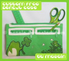 Lucky Frog pencil case by tessary