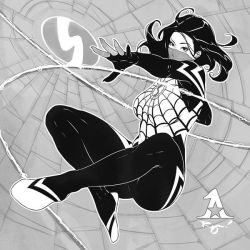 Cindy Moon aka Silk: Inktober '18 #7 by Artipelago