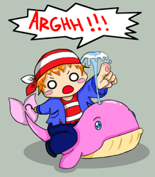Steef on his P.I.M.P whale XD by A-KUNA