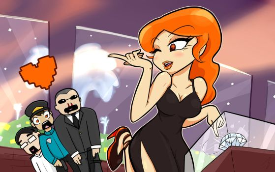 Redhead at the Diamant by Mastastealth