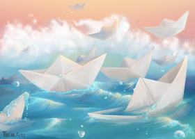 Paper Boat by Maybellez