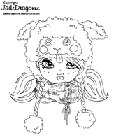 Little Lamb Hat - Lineart by JadeDragonne
