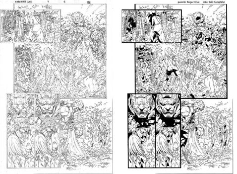 X-Men First Class 4 page 5 ink practice SideBySide by EricKemphfer