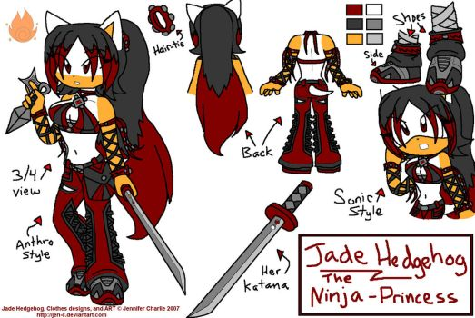 Jade Hedgehog :Reference Pic: by Jen-C