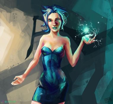 Psionic Girl Character Sketch by IonfluxDA