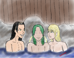In the Hotsprings by Cutieloveshernerds