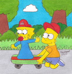 Bart and Maggie by MarioSimpson1