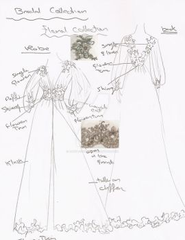Robe Sketch by alysa-couture
