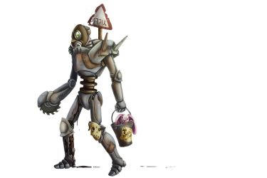 Concept Practice: Post-Apocalyptic Robot by Jackwrench