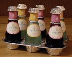 Cupcake Wine Label Redesign by vicki2314