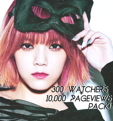 300 Watchers + 10,000 pageviews pack! by shiny-a