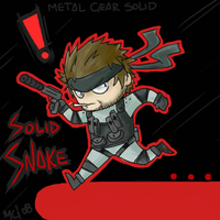 Solid Snake Chibi by Chao-sama