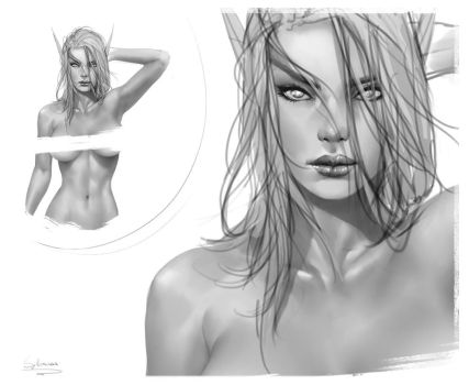 Pin-up preview by krysdecker