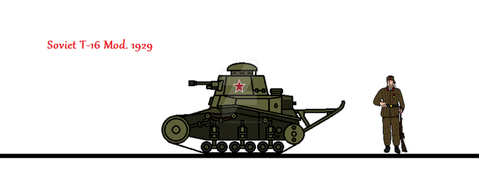 Soviet T-16 Mod. 1929 by thesketchydude13