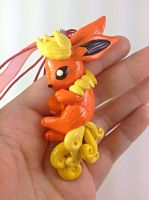 Flareon with Firestone Necklace 2 by MaryBunnie