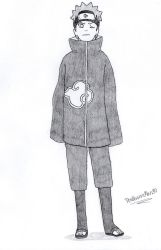 Shiro Otsutsuki - New Akatsuki cloak by TheIllusiveMan90