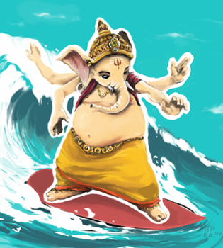 Nice ride, Mister Ganesha by blob1