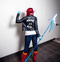 Anime is real - Undyne Cosplay (Undertale) by Mitternachto