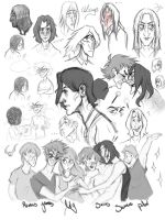 Young Severus sketchdump by velapokemon