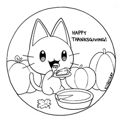Inktober - Day 10 Happy Thanksgiving! by KiiroiKat