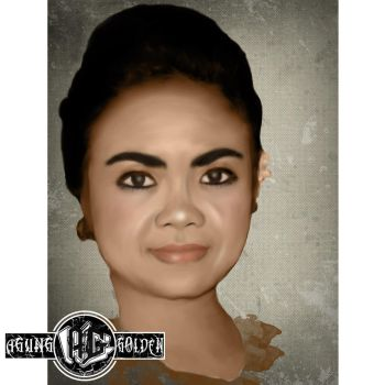 Digital Painting - lovely sister On canvas by agungRaka