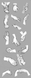 Hand References by NimeniCanine