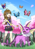 Commission: Spring Time in Kalos