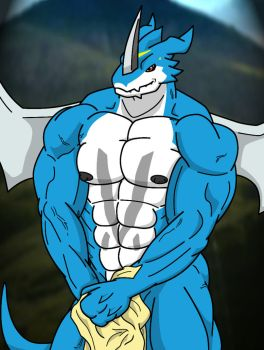 ExVeemon Once More by WolfoxOkamichan