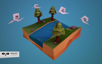 Low poly Land by Rafemisora