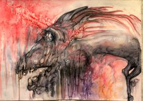 Expression of feelings through the horse's flesh by KaterinaRss