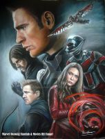 TEAM CAPTAIN (Civil war) soft pastel drawing by FawnCorner