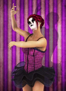 Lady Clown Dancing by deviant-clown