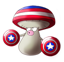 Amoonguss evolved into ... Captain America?