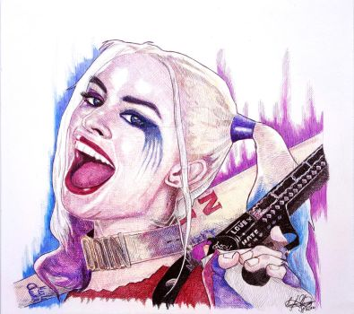 Harley Quinn Suicide Squad by OMKDrawings