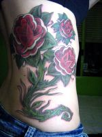 Old School Roses Tattoo by micaeltattoo