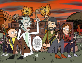 Rick and Morty Meets Joel and Ellie. by Sanctuary99