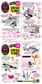How to draw PLANES + FLYING MACHINES tutorial by STUDIOBLINKTWICE