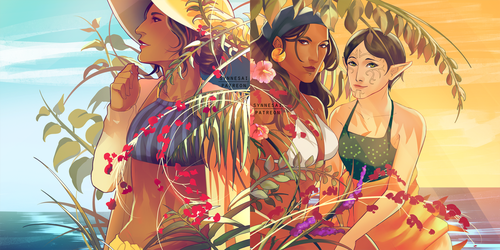 Summer Time Gals by Synnesai