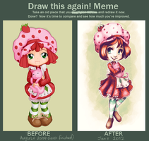 Before and After: Strawberry Shortcake by ChibiTaryn