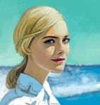 Elle Fanning on the sea by chernyshov