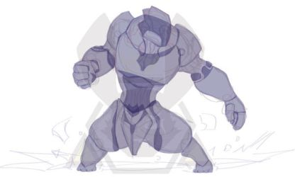 Vector Sketch - Warframe Rhino Wip by 347STUDIOS