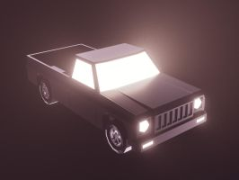 Lowpoly Pickup Truck (gamedev) by romanpapush