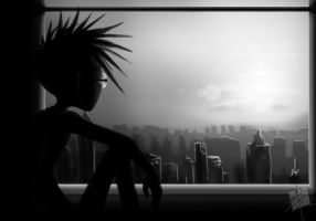 It's a lonely city by Spaffi