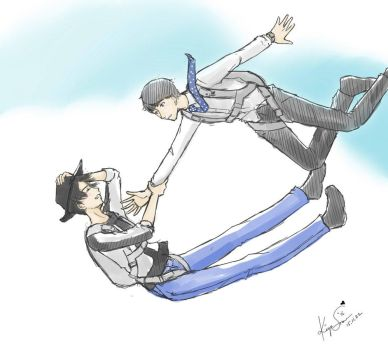 Free Sketch Thingy 2 [KAME N MARU] Falling~ by snow-guardian